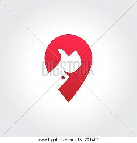 Best Spot Technology Symbol. On-line Transportation Location
