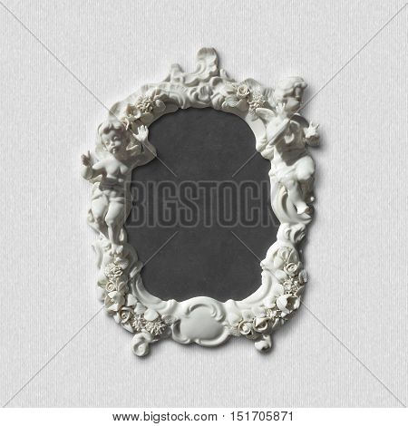 vintage retro style picture photo or mirror frame including clipping paths