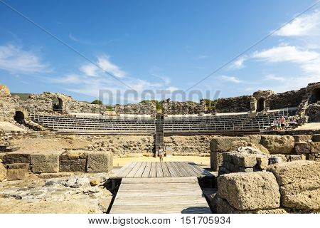 Ruins of Baelo Claudia, an ancient Roman town situated on the Costa de la Luz in Spain.
