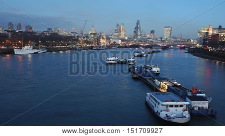 London Skyline, Night View
