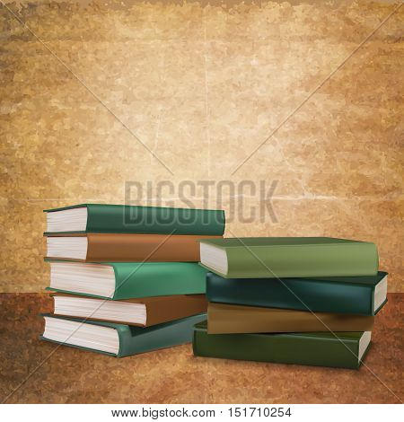 bookshelves many editions , vector illustration .