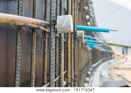 Steel Bars Stacked For Construction, frame, industrial