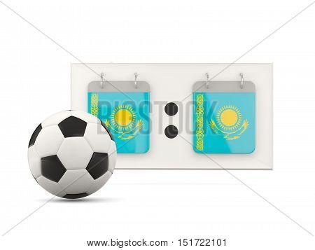 Flag Of Kazakhstan, Football With Scoreboard