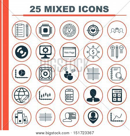 Set Of 25 Universal Icons On Innovation, Coaching, Focus Group And More Topics. Vector Icon Set Incl