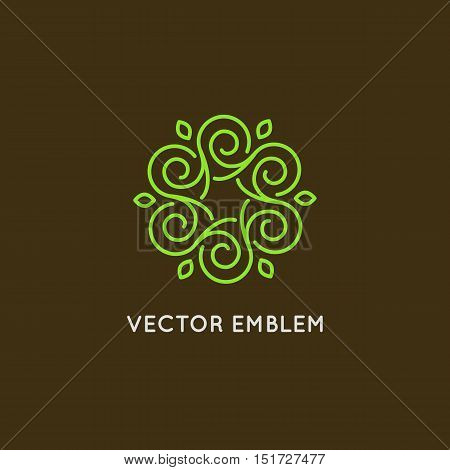 Vector Logo Design - Cosmetics And Beauty Concept