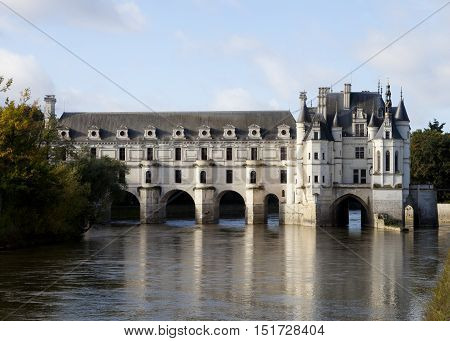 Chenonceau. France. Chateau of the Loire Valley.