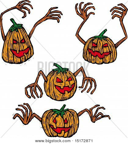 Four pumpkins