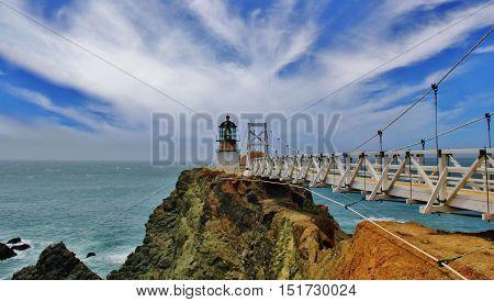 Point Bonita Lighthouse in Golden Gate Recreational Area
