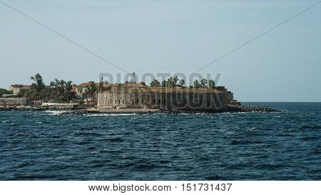 Slavery fortress on Goree island Dakar Senegal