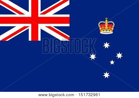 Flag of Victoria (Vic) is a state in the south-east of Australia. Vector