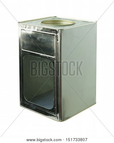 Thai Cracker Steel Box isolated on white background clipping paths
