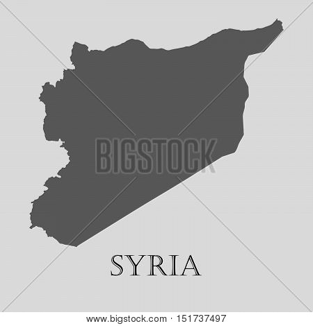 Gray Syria map on light grey background. Gray Syria map - vector illustration.