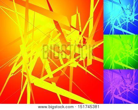 Colorful Geometric Elements. Edgy, Angular Random, Irregular Shapes Pattern / Texture