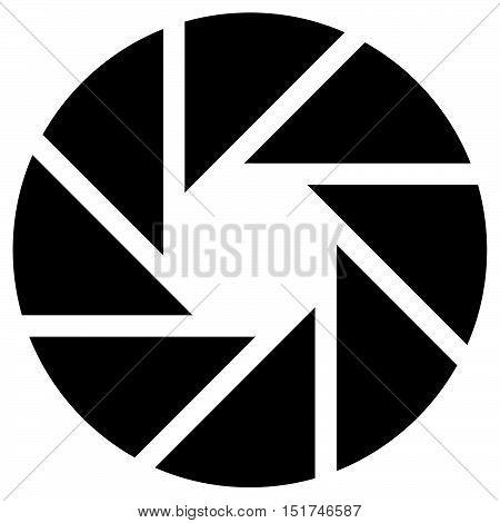 Diaphragm Like Circular Symbol For Photography, Technology, Generic Logos –segmented Circle Icon.