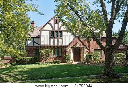Old English Tudor Home in Trees