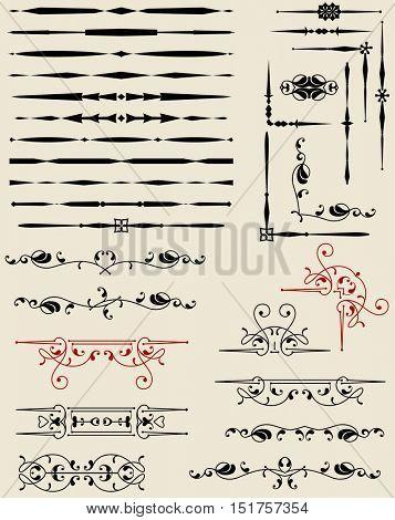 Text Divider Ornamental Design Vector Illustration