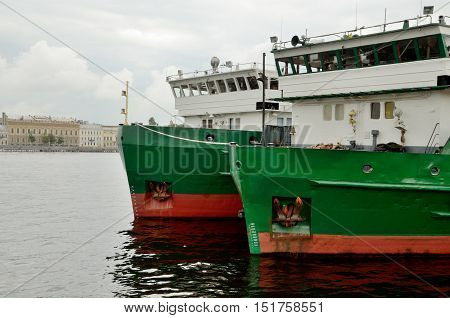 Cargo ship at berth.It is empty and will be loaded.