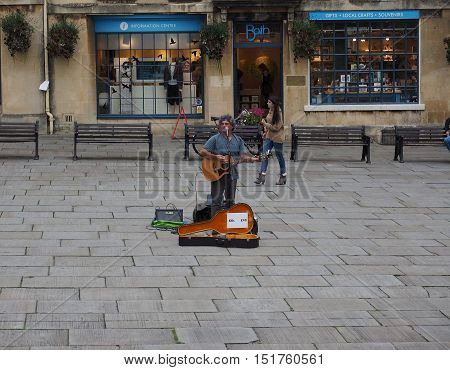 Busker In Bath