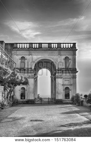 Triumphal Arch In Villa D'este, Tivoli, Italy
