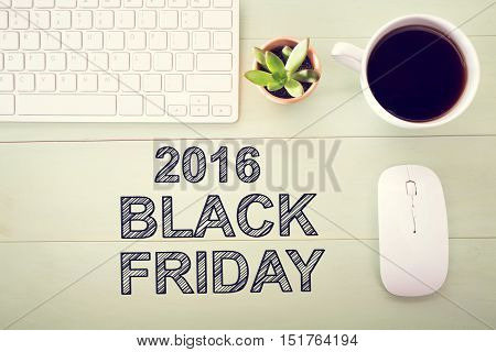 Black Friday 2016 Text With Workstation