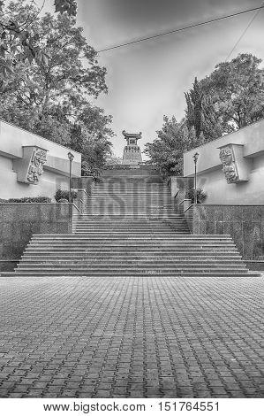 Scenic Staircase To The Monument To Alexander Kazarsky, Sevastopol, Crimea