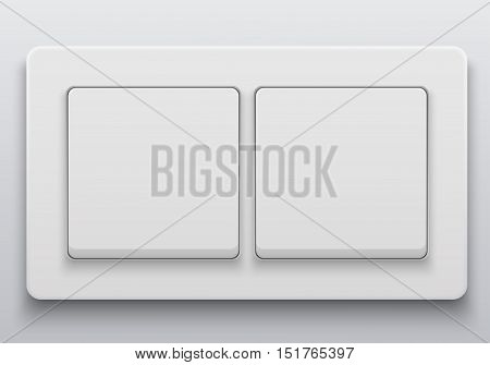Vector modern light switch icon on light background