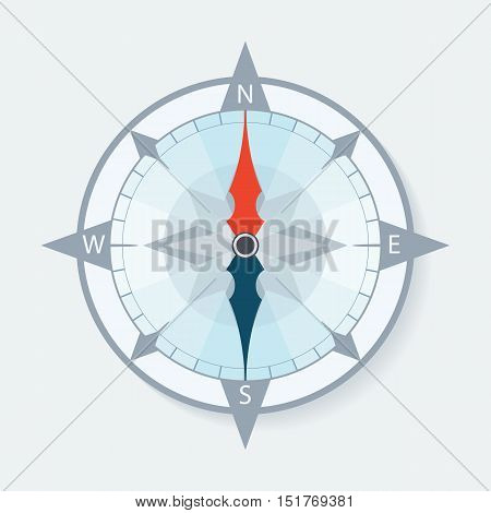 Compass wind rose with arrows. Vector illustration