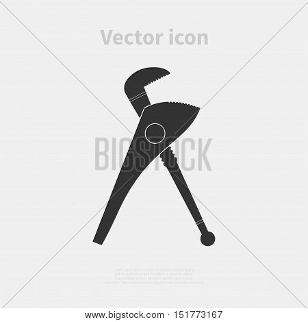 Caliper icon isolated on background. Vector illustration.