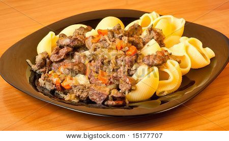 Fried Liver And Pasta