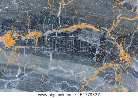 Patterned natural of dark gray marble pattern (Gold Russia) for design.