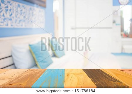 Defocused Of  Bedroom Style ( Blur  Bedroom  For Background )
