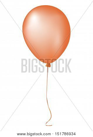 Single Orange Gathering Event Air Balloon