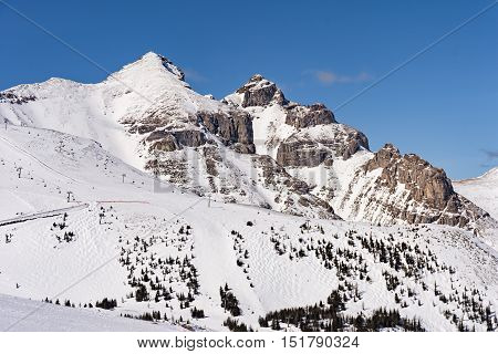 Mountain Ski Resort Banff National Park Alberta Canada on a sunny winter day