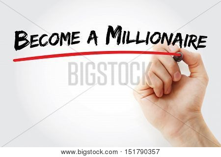 Hand Writing Become A Millionaire With Marker