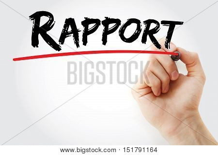 Hand Writing Rapport With Marker