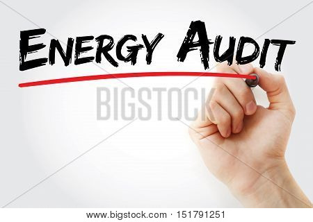 Hand Writing Energy Audit With Marker