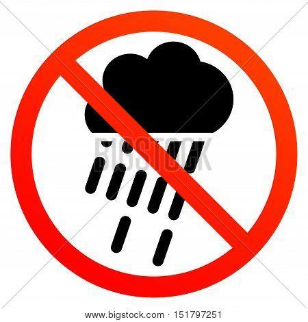 No Rain Sign Symbol Vector Photo Free Trial Bigstock