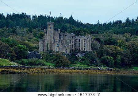 The leaves beginning to change at Dunvegan Castle on the Isle of Skye.