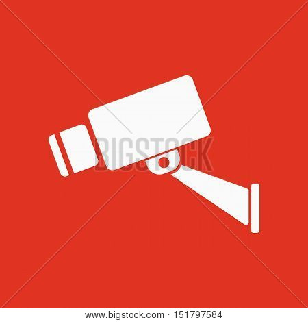 The cctv icon. Camera and surveillance, security, observation symbol. Flat Vector illustration