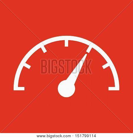 The tachometer, speedometer and indicator icon. Performance measurement symbol. Flat Vector illustration