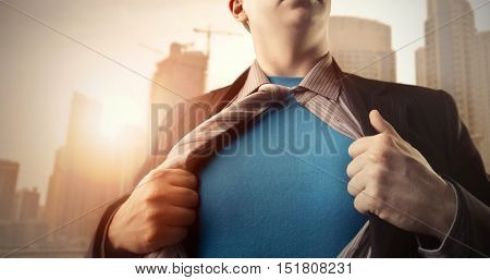 Superman under a business suit
