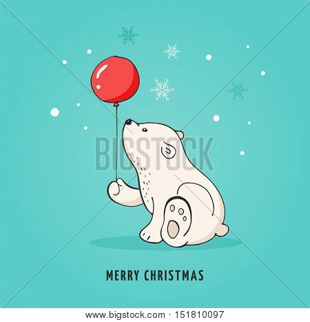Hand Drawn Polar Bear Vector Photo Free Trial Bigstock