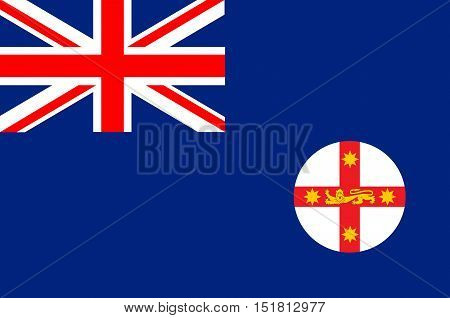 Flag of New South Wales (NSW) is a state on the east coast of Australia