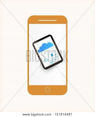 Smartphone, mobile phone isolated, realistic vector illustration