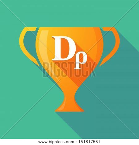 Long Shadow Gold Award Cup With A Drachma Currency Sign