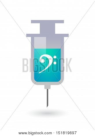 Isolated  Syringe With An F Clef
