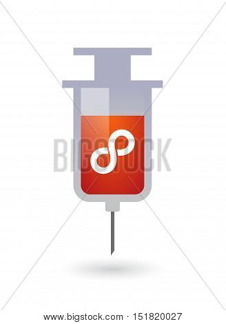 Isolated  Syringe With An Infinite Sign