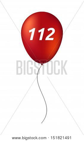 Isolated Balloon With    The Text 112