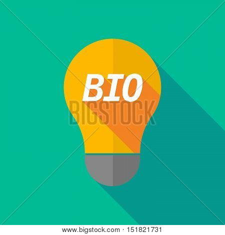 Long Shadow Light Bulb Icon With  The Text  Bio