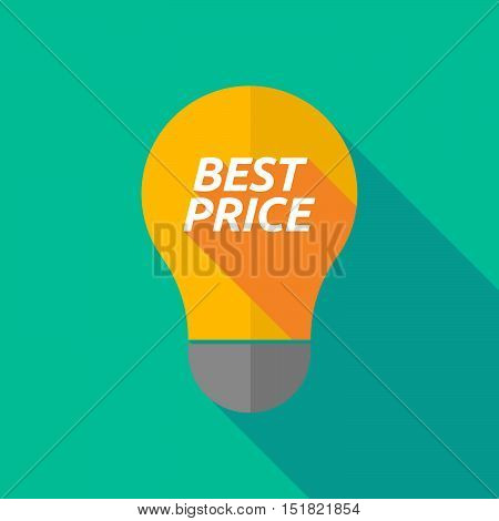 Long Shadow Light Bulb Icon With    The Text Best Price